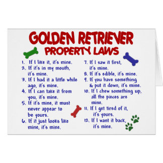 Golden Retriever Property Laws 2 Card