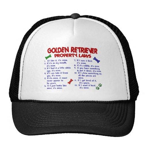 Golden Retriever Property Laws 2 Hat
