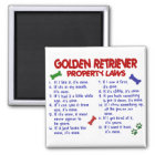 Golden Retriever Property Laws 2 Magnet