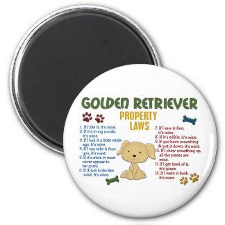 Golden Retriever Property Laws 4 6 Cm Round Magnet