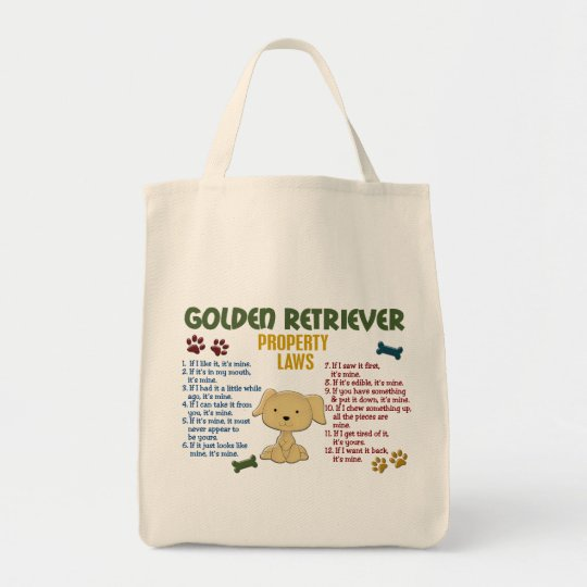 Golden Retriever Property Laws 4 Tote Bag