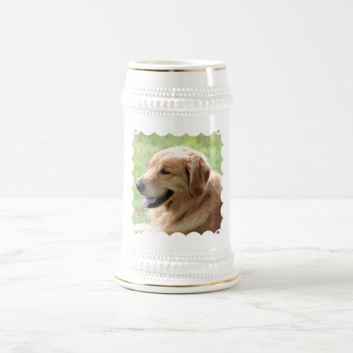 Golden Retriever Pup Beer Stein Coffee Mugs