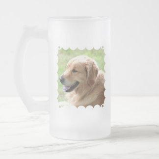 Golden Retriever Pup Frosted Beer Mug
