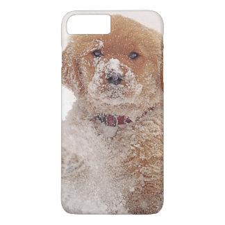 Golden Retriever Pup in Snow iPhone 8 Plus/7 Plus Case