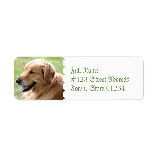 Golden Retriever Pup Return Address Mailing Labels