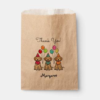 Golden Retriever Puppies Birthday Favor Bags Favour Bags