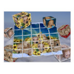 GOLDEN RETRIEVER PUPPIES FLOWERS PUZZLES CUBES POST CARDS