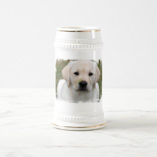 Golden Retriever Puppy Beer Stein Mugs