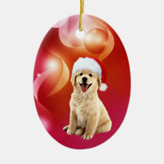 Golden retriever puppy Christmas Christmas Ornament