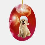 Golden retriever puppy Christmas Ornament