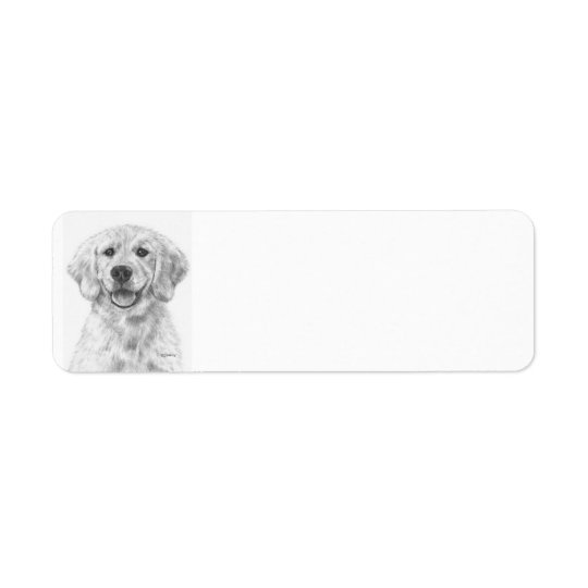 Golden Retriever Puppy Cody Return Address Label