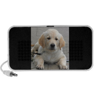 Golden Retriever puppy dog cute beautiful photo Portable Speakers