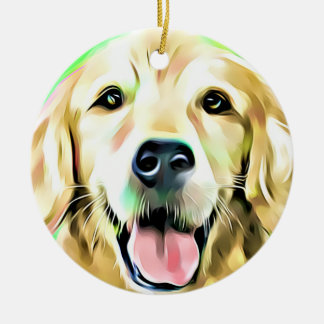 Golden Retriever Puppy Dog Digital art Christmas Ornament