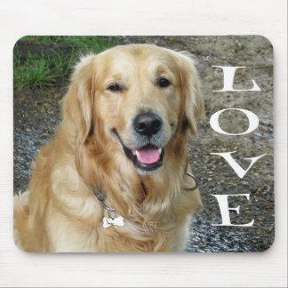 Golden Retriever Puppy Dog Love Mouse Mat