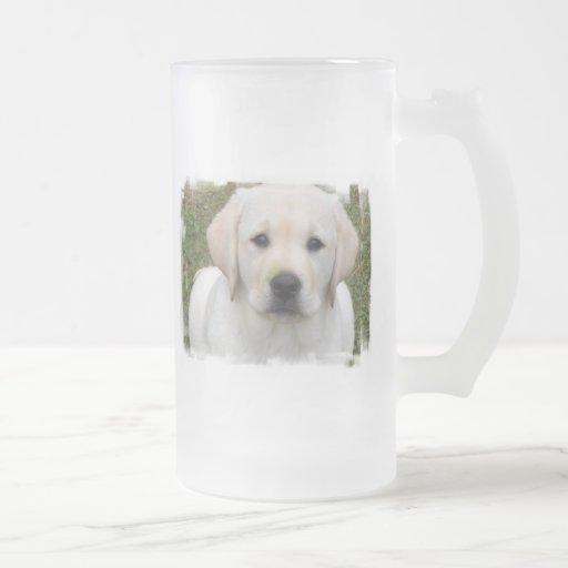 Golden Retriever Puppy Frosted Beer Mug