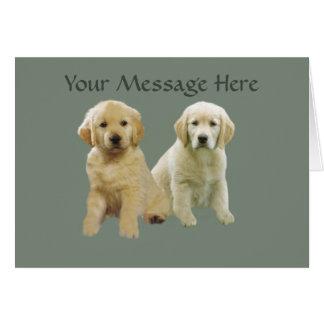 Golden Retriever Puppy  Greeting Card