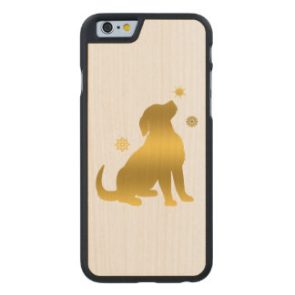 Golden Retriever Puppy in Snow Carved® Maple iPhone 6 Slim Case