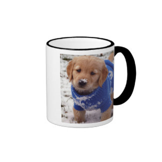 Golden Retriever Puppy Ringer Mug