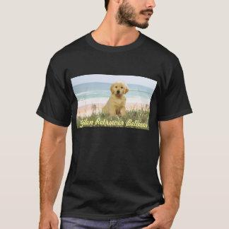 Golden Retriever Puppy On Beach T-Shirt