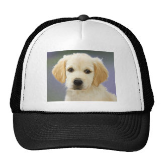 Golden Retriever Puppy Painting Trucker Hat