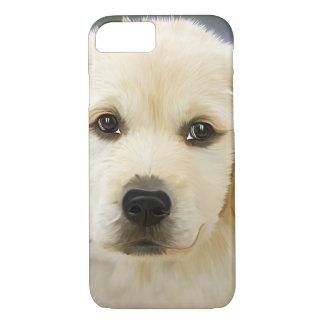 Golden Retriever Puppy Painting iPhone 7 Case