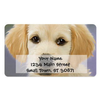 Golden Retriever Puppy Painting Pack Of Standard Business Cards