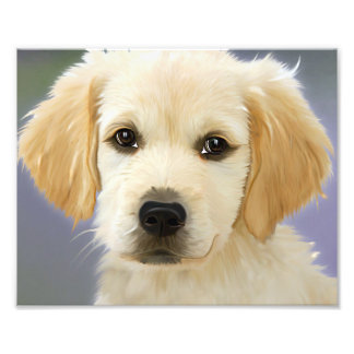 Golden Retriever Puppy Painting Photo Print