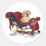 Golden Retriever Puppy Round Sticker