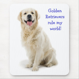 Golden Retriever Puppy Rule My World  Mousepad