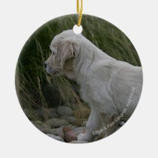 Golden Retriever Puppy Standing Christmas Ornament