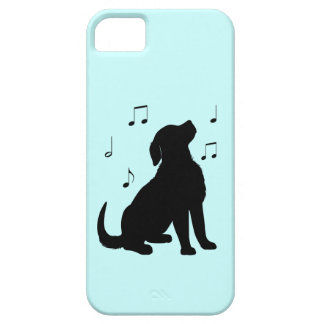 Golden Retriever Puppy with Music Notes Case For The iPhone 5