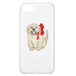 Golden Retriever Puppy with Red Ribbon iPhone 5C Case
