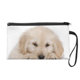 Golden retriever puppy wristlet purses