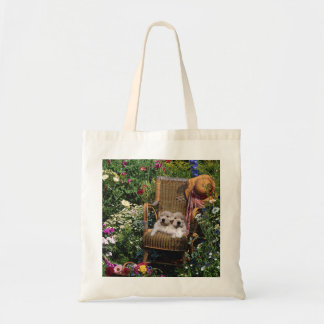 Golden Retriever Pups In The Garden Tote Bag
