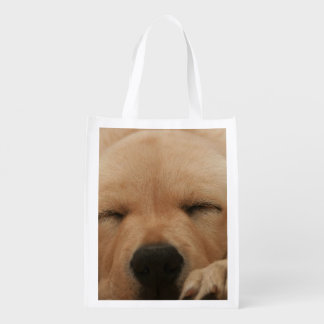 Golden Retriever Reusable Grocery Bag