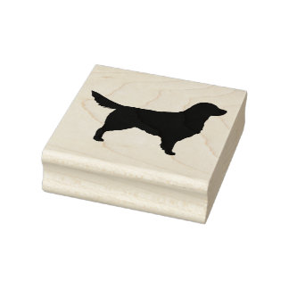 Golden Retriever Silhouette Rubber Stamp