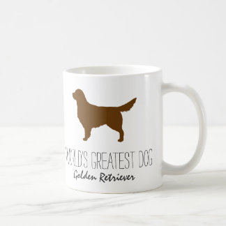 Golden Retriever Silhouette - World's Greatest Dog Coffee Mug