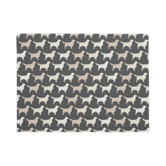 Golden Retriever Silhouettes Pattern Doormat
