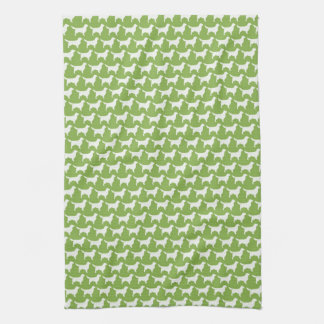Golden Retriever Silhouettes Pattern Tea Towel