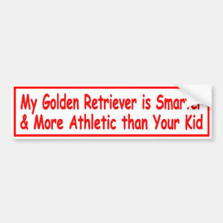 Golden Retriever 'Smart' Bumper Sticker