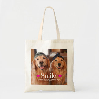 Golden Retriever Somebody Loves You Tote Bag