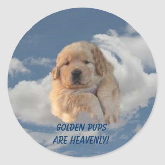 Golden Retriever Sticker Heavenly Puppy