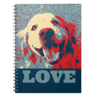 Golden Retriever Stylized Love Notebook