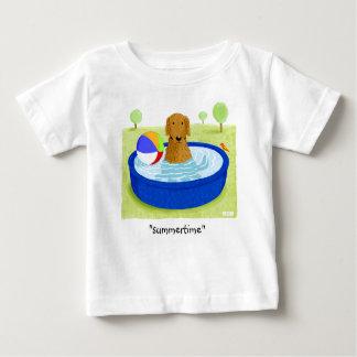 """Golden Retriever """"Summertime"""" Baby T-Shirt"""