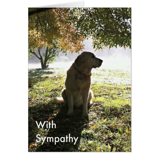Golden Retriever Sympathy Card