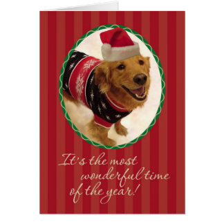 Golden Retriever- Tacky Christmas Sweater Card