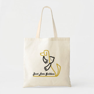 Golden Retriever Tote, Basic Tote Bag