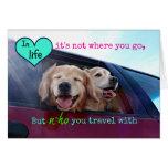 Golden Retriever Travel Friendship Cards