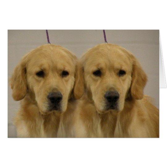 Golden Retriever Twins Greeting Card