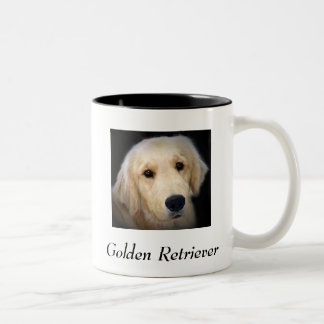Golden Retriever Two-Tone Coffee Mug